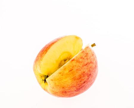 white back ground: apple on white back ground
