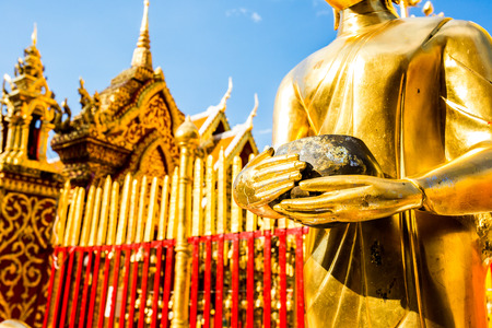 doi: buddha  wat phrataj doi suthep chiangmai Thailand