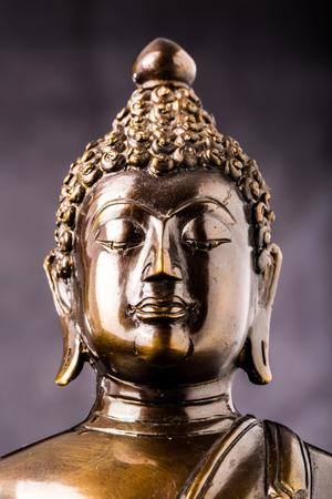 buddha statue on black background Stock Photo