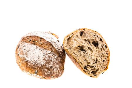 white back ground: bread on white back ground Stock Photo