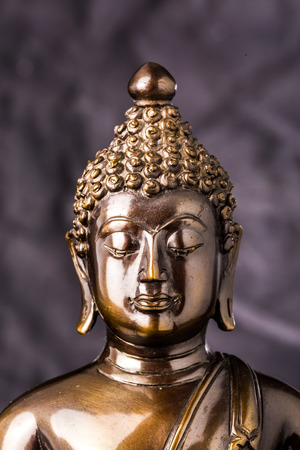 buddha statue: buddha statue on black background Stock Photo