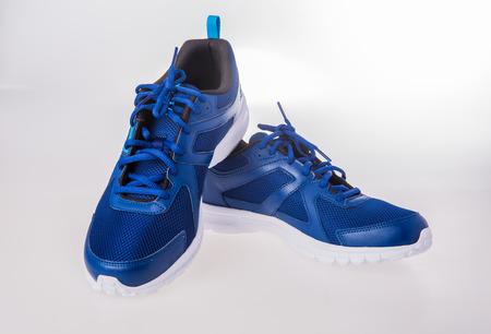 Running shoes on white background Standard-Bild