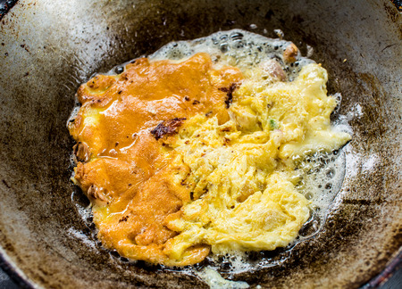 omelet: Frying omelet Stock Photo