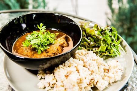 goulash: Pork goulash with rice