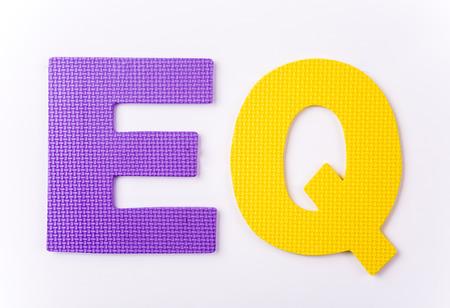 letter EQ on white background Stock Photo