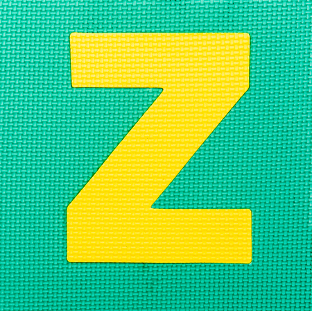 letter Z on green background Stock Photo