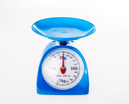 weighing machine on white background