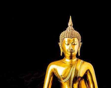 thai buddha: buddha statue on black background Stock Photo