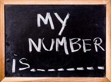 phone number on blackboard
