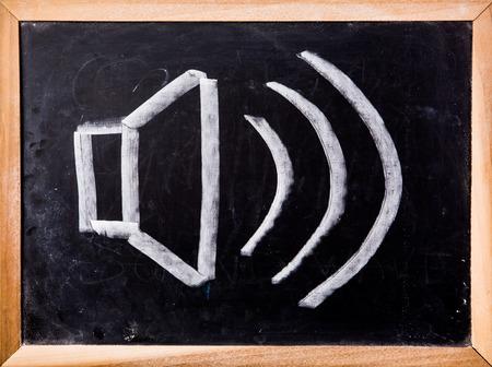 speaker icon: speaker  icon on blackboard