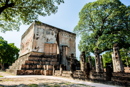 ancient remains of Sukhothai historical park  Thailand Stock Photo