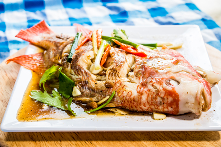 steamed  tilapia fish