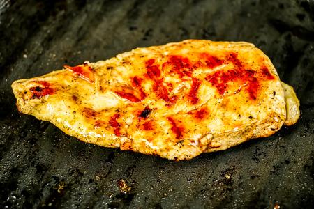 fried chicken in pan