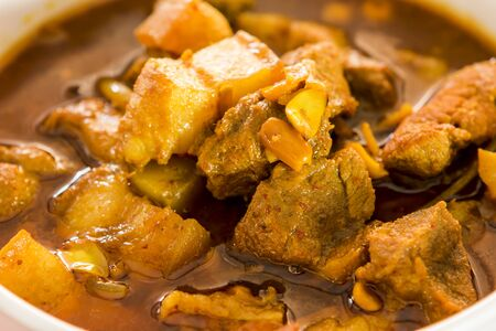 Thai northern pork curry or Hang Lay curry, in bowl  Chiangmai Thailand