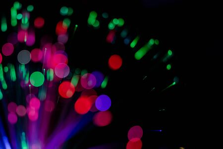 Abstract bokeh blurred color magic light can use background and wallpaper