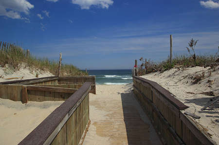 wooden ramp to beach
