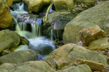 minature waterfall between rocks-Boonton,NJ
