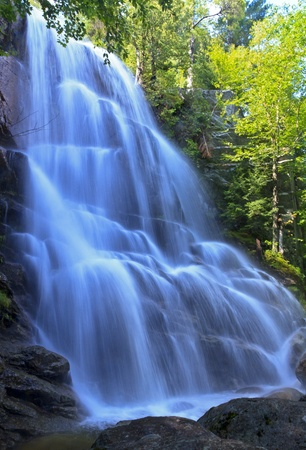 Side view of Beaver Meadow Falls in the Adirondack State Park in New York photo