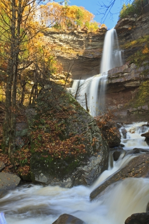Kaaterskills Falls in Autumn after a heavy rain in the Catskills Mountains of New York Stock Photo