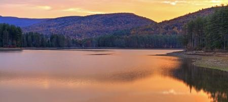 cooper: Sunrise on Cooper Lake near Woodstock, NY