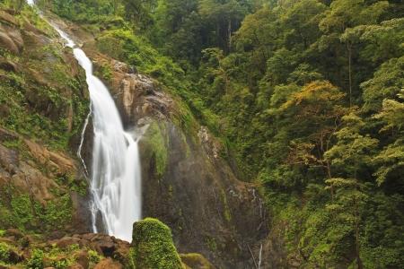 Misty Catarata Manantial de Agua Viva waterfall - near Bigagual, Costa Rica - the tallest waterfall in Costa Rica photo