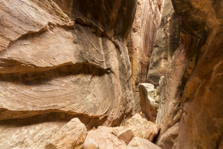 Joint Trail slot canyon off Chesler Park in the remote Needles District of Canyonlands National Park, Utah Stock Photo - 24203798