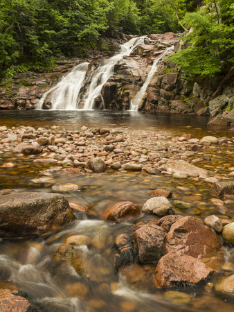 north cascade national park: Mary Ann Falls and swimming hole in Cape Breton Highlands National Park, Nova Scotia Stock Photo