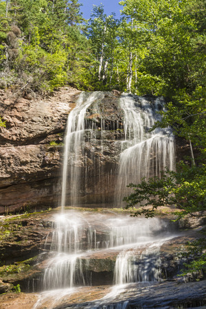 north cascade national park: A waterfall off the Cabot Trail in Cape Breton Highlands National Park, Nova Scotia
