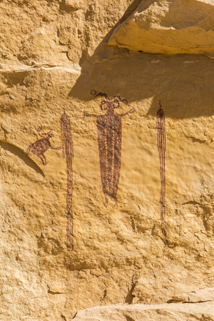 San Rafael Swell: Head of SInbad - a 3000 year old rock art pictograph  - an example of Barrier Canyon culture in the San Rafael Swell in Southern Utah.