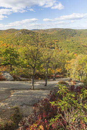 state park: Autumn comes to the mountains and valleys north of Bear Mountain State Park, New York Stock Photo