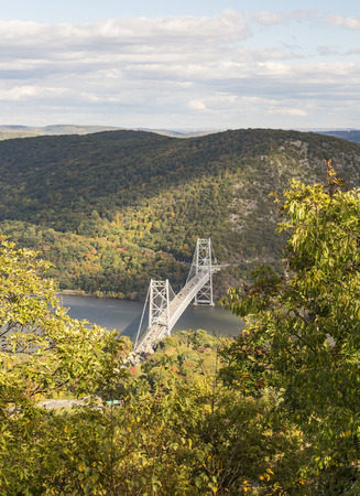 state park: bear Mountain Bridge from above in Bear Mountin State Park, New York.