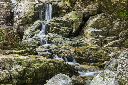 gill: Artists Falls on Gill Brook on the Gill Brook trail at Adirondack Mountain Club near St. Huberts, New York Stock Photo
