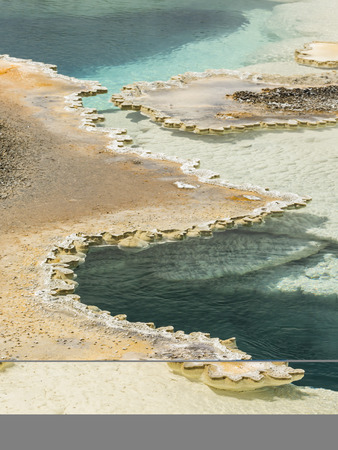 Doublet Pool, a double pool hot spring in Upper Geyser Basin in Yellowstone National Park
