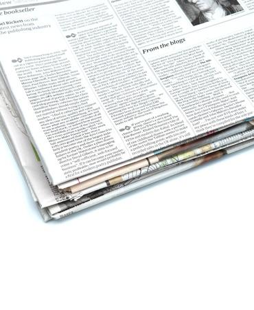 news paper: Close up of a newspaper