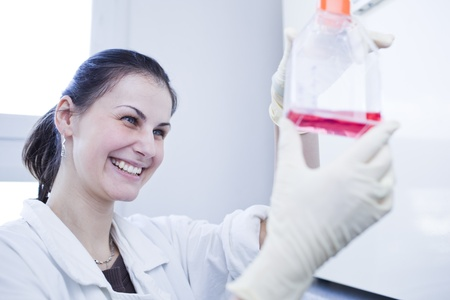 portrait of a female researcher doing research in a lab (color toned image; shallow DOF) Stock Photo - 9802981