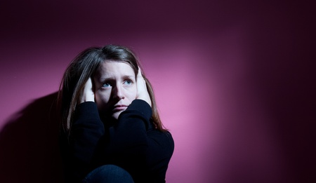 Young woman suffering from severe depression Stock Photo - 9794465