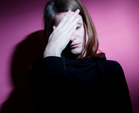 Young woman suffering from severe depression Stock Photo - 9794654