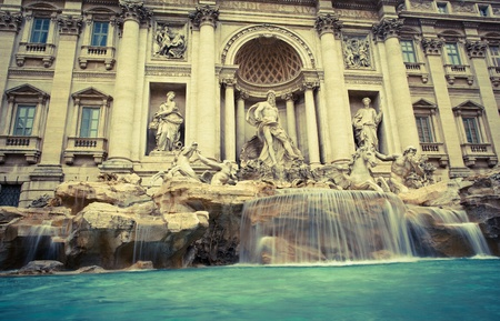 Fontana di Trevi - the famous Trevi fountain in Rome, Italy photo