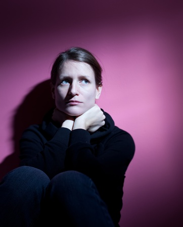 Young woman suffering from severe depression Stock Photo - 9793122