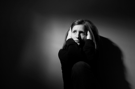 Young woman suffering from severe depression Stock Photo - 9793125