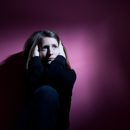 Young woman suffering from severe depression Stock Photo - 9792425