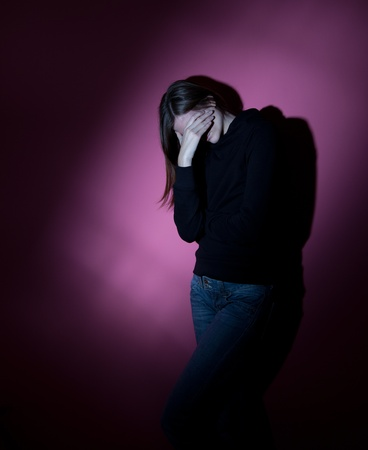 Young woman suffering from severe depression Stock Photo - 9792423