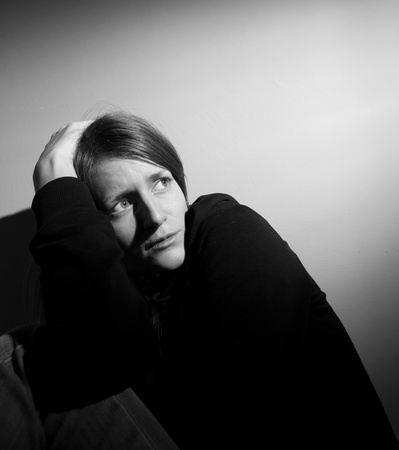 Young woman suffering from severe depression Stock Photo - 9793612