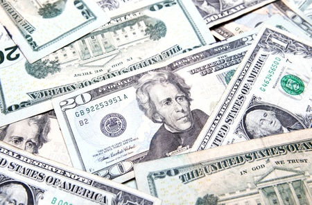American dollars background  USD background texture photo