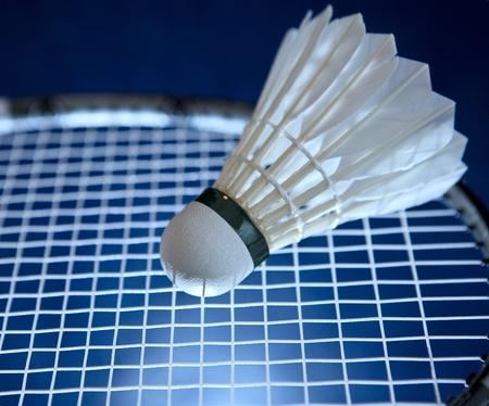 Badminton racket and shuttlecock photo
