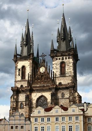 tynsky church: Tynsky church in Prague, Czech republic