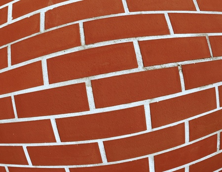 intentionally distorted red wall as a catchy backgroundtexture photo