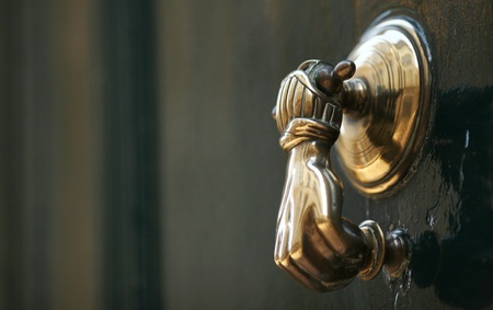 fancy old-fashioned knocker photo