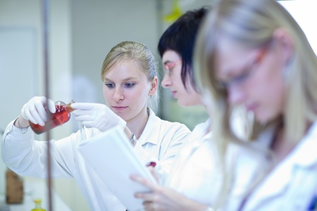 portrait of a female researcher carrying out research in a chemistry lab Stock Photo - 9926062