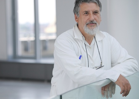Renowned scientist/doctor in a research center/hospital looking confident Stock Photo - 9939911